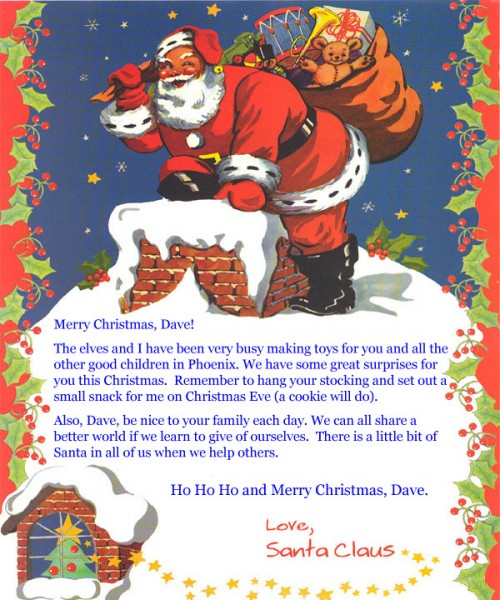 Letter from santa claus personalized books and music for children letter from santa claus spiritdancerdesigns Images